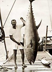 Ernest Hemingway deep sea fishing in Florida. Mandatory Credit: Hemingway Collection/ JFK Library, Boston /Published:  The New York Times on the Web 07/11/99 Books This image is within the public domain PLEASE CONTACT  Allan Goodrich, John F. Kennedy Library Boston, Mass.  617-929-4530 FOR MORE IMAGES OF HEMINGWAY.